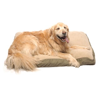 Carolina Pet Four Season Jamison Sage with Cashmere Berber Top Pet Bed