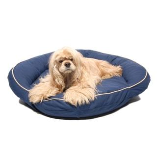 Carolina Pet Blue Cotton Canvas Bolster Pet Bed