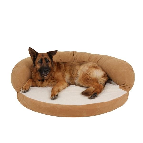 Carolina Pet Caramel Tan Ortho Sleeper Bolster Pet Bed. Opens flyout.