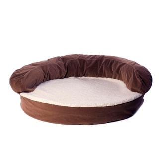 Carolina Pet Chocolate Brown Ortho Sleeper Bolster Pet Bed