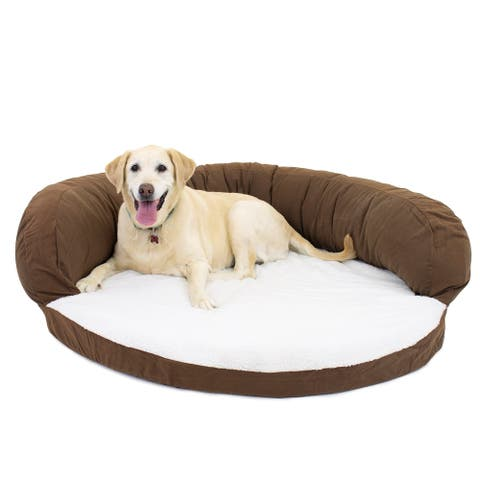 Carolina Pet Chocolate Ortho Sleeper Bolster Pet Bed
