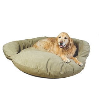 Carolina Pet Sage Green Velvet Microfiber Bolster Pet Bed