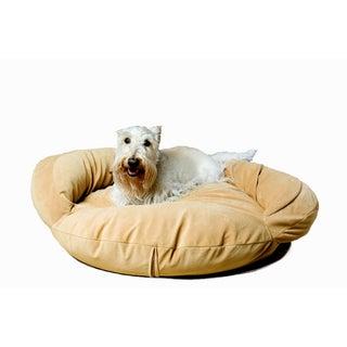 Carolina Pet Caramel Tan Velvet Microfiber Bolster Pet Bed