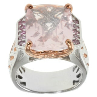 Michael Valitutti Two-tone Rose Quartz Ring