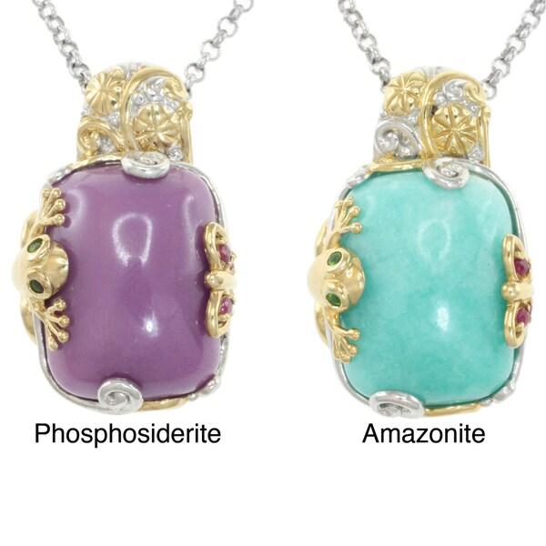 Michael Valitutti Two-tone Gemstone Necklace