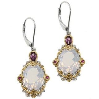 Michael Valitutti Two-tone Hazy Amethyst Earrings