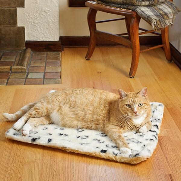 Tiger Dreamz Animal Print Faux Fur Pet Bed