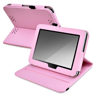 BasAcc Pink Leather Protective Swivel Case for Amazon Kindle Fire HD 7-Inch