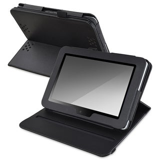 INSTEN Black Leather Swivel Phone Case Cover for Amazon Kindle Fire HD 7-inch