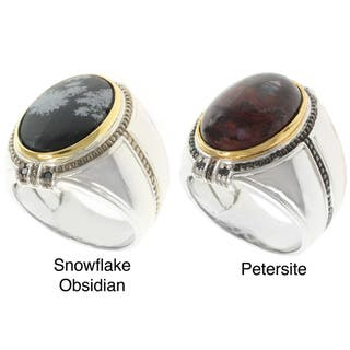 Michael Valitutti Two-tone Gemstone Men's Ring|https://ak1.ostkcdn.com/images/products/7402282/P14858392.jpg?impolicy=medium