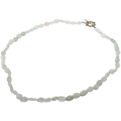 Michael Valitutti Two-Tone Beryl Bead and Pink Sapphire Necklace