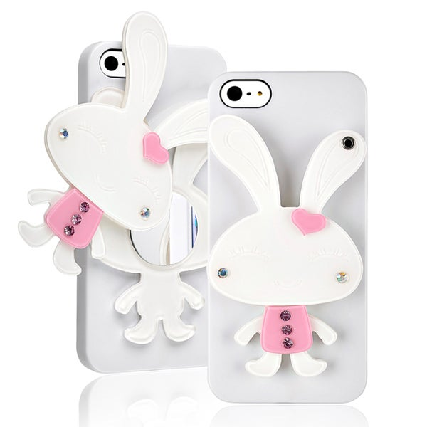 BasAcc White Rabbit Mirror Snap-on Case for Apple iPhone 5