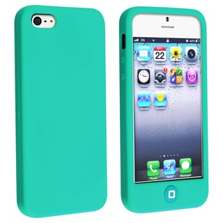 BasAcc Green Silicone Case with Home Button for Apple iPhone 5
