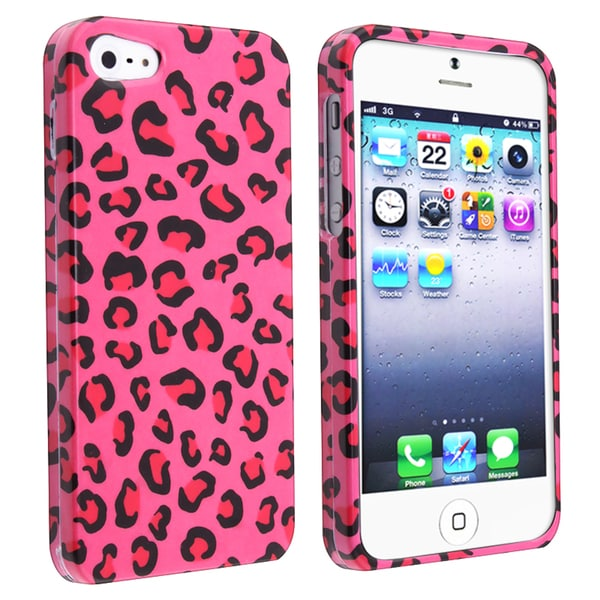BasAcc Pink Leopard Snap-on Case for Apple iPhone 5