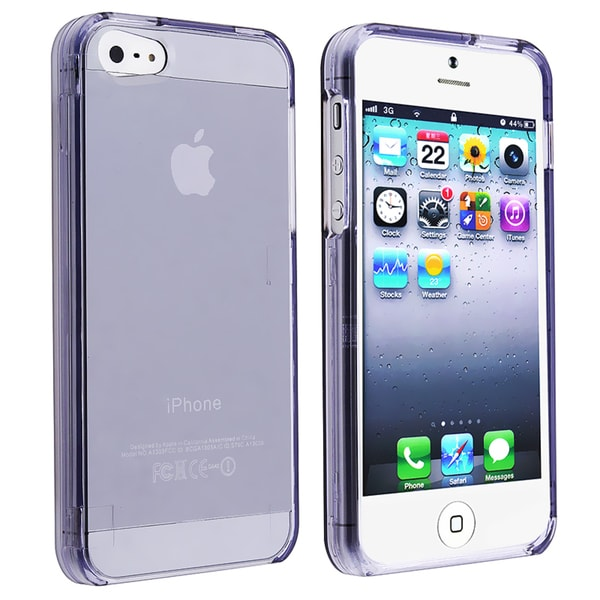 BasAcc Protex Transparent Smoke Snap-on Case for Apple iPhone 5
