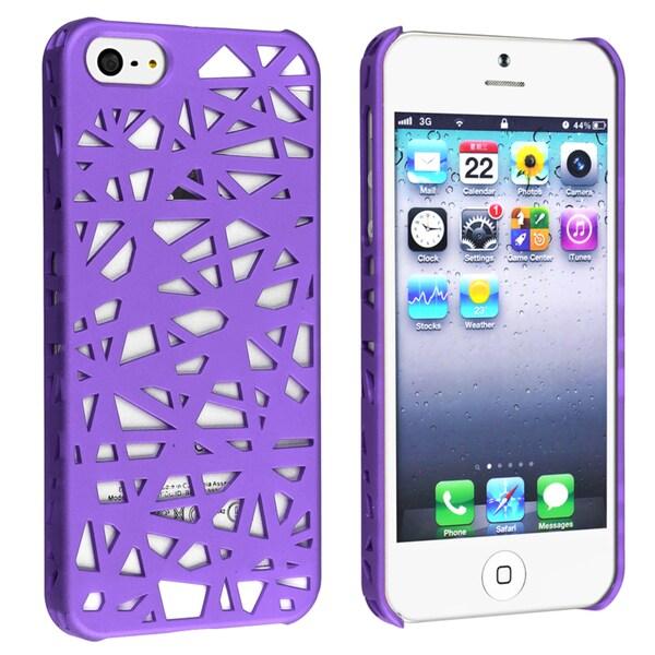 BasAcc Dark Purple Bird Nest Rear Snap-on Case for Apple iPhone 5
