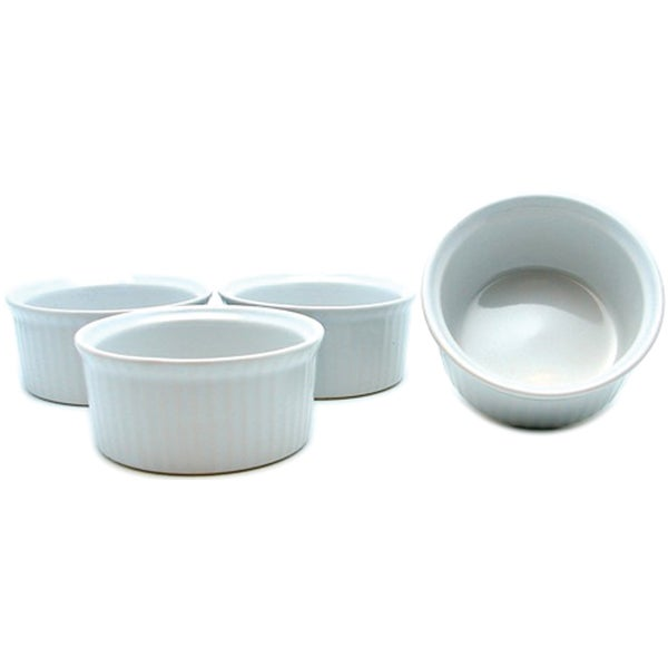 Ceramic White Ramekins (Set of 4)
