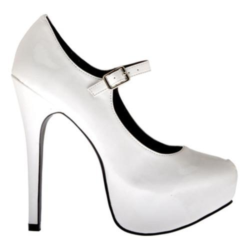 Women's Highest Heel Kissable-71 White Patent Polyurethane - Thumbnail 1