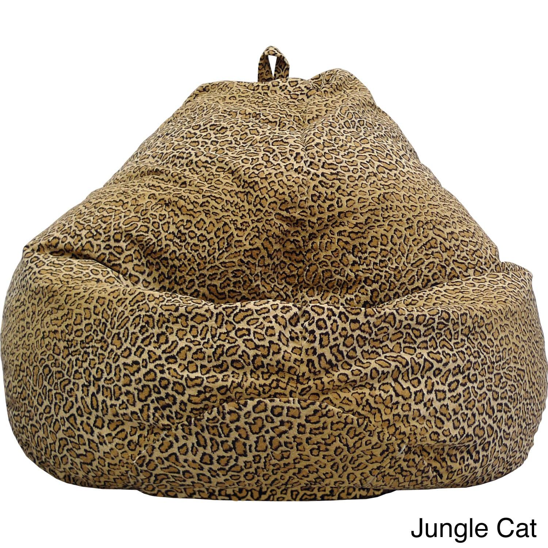 Gold Medal Large Safari Microfiber Teardrop Bean Bag (Tig...