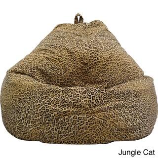Gold Medal Large Safari Microfiber Teardrop Bean Bag