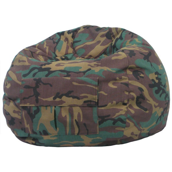 Gold Medal Cargo Pocket Camouflage Denim Look Extra Large Bean Bag
