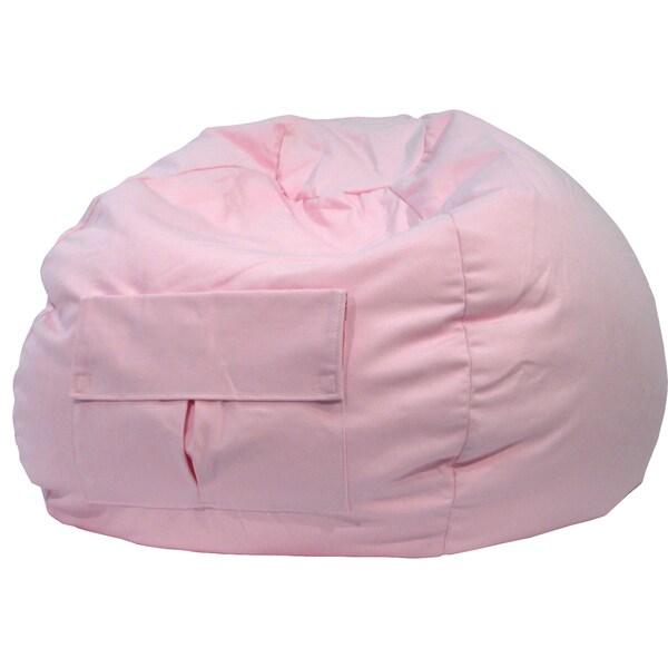 Gold Medal Cargo Pocket Pink Denim Look Extra Large Bean Bag