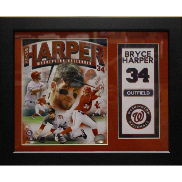 Washington Nationals Bryce Harper Deluxe Stat Frame (11x14)