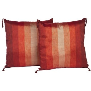 Set of Two Sunset Stripe Throw Pillows (Morocco)