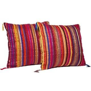 Set of Two Multi-Stripe Throw Pillows (Morocco)