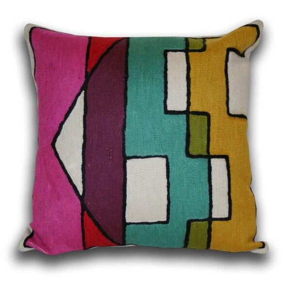 Marlo Lorenz 'Kiss' 16-inch Cotton Decorative Pillow