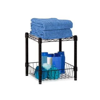 Stacking Black Wire Basket Storage Table