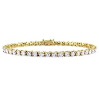 Miadora Signature Collection 14k Yellow Gold 5ct TDW Diamond Bracelet