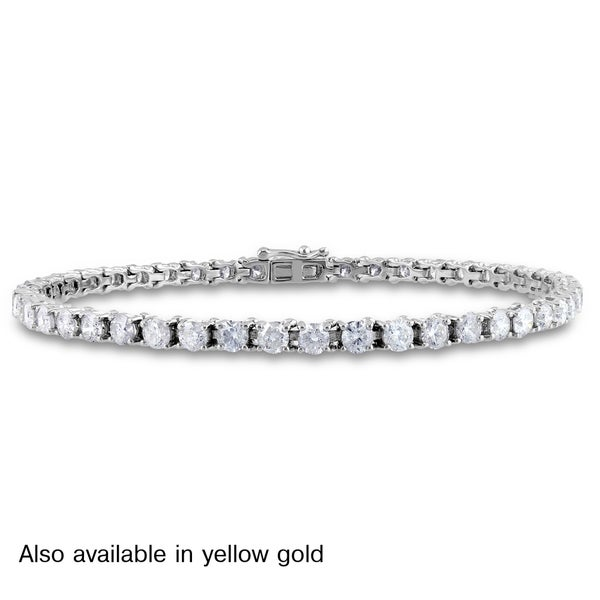 Miadora Signature Collection 14k Gold 6ct TDW Diamond Bracelet
