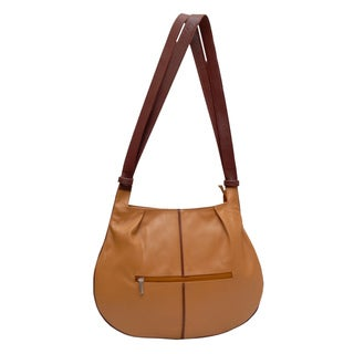 Kozmic 2-tone Leather Shoulder Bag
