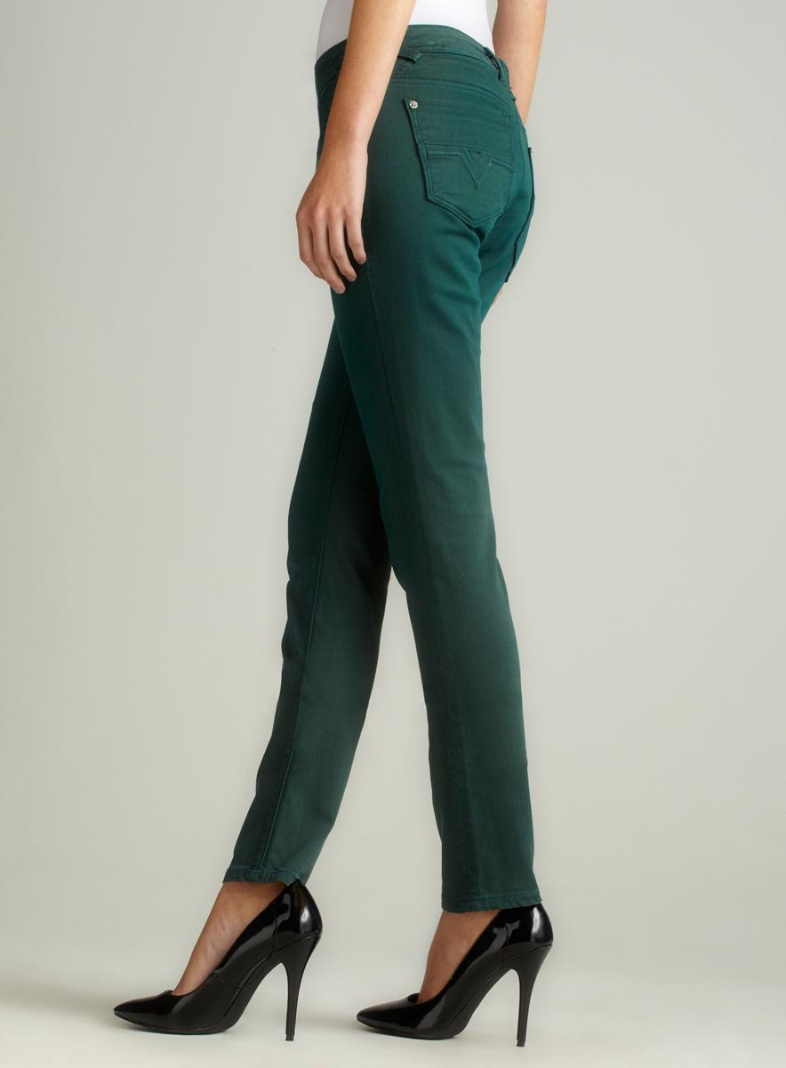 Vigoss Skinny Jean In Green - Thumbnail 1