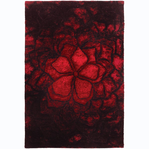Artist's Loom Hand-woven Shag Rug