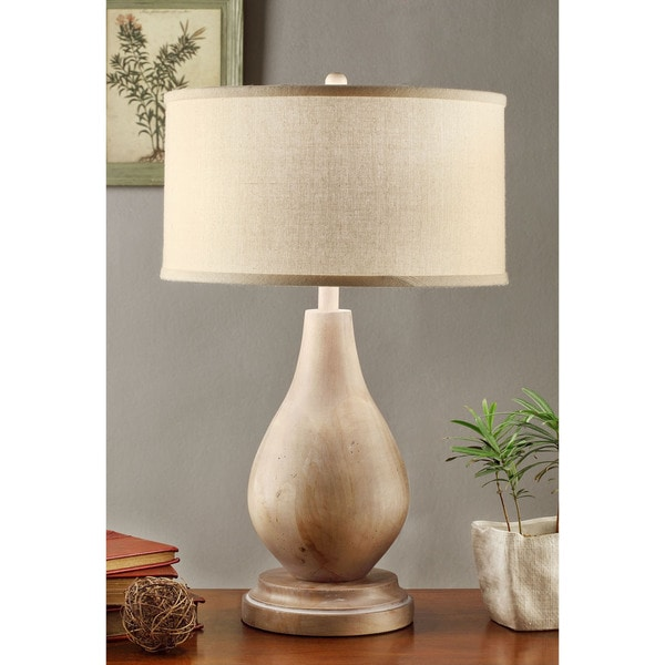 Latte Teardrop Table Lamp with Cream Shade