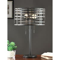 Renate Black Metal Spiral Round Table Lamp