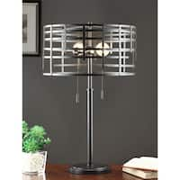 Industrial Cage Metal Table Lamp Free Shipping Today