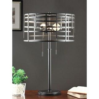 Renate Black Metal Spiral Round Table Lamp