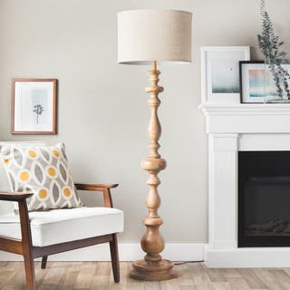 Buy wood floor lamps online at overstock our best lighting deals the gray barn latte grande brown milk washed wood and linen shade floor lamp aloadofball Image collections