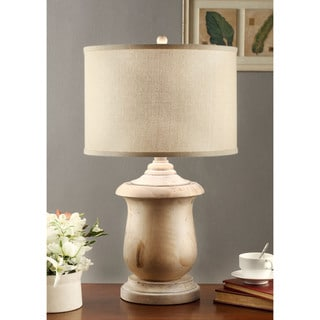 Latte Urn Table Lamp with Cream Shade