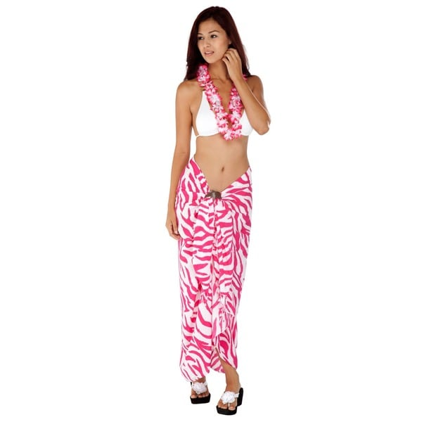93ef70c5a859a0 ... Women's Clothing; /; Swimwear; /; Cover-Ups & Sarongs. Handmade 1 World  Sarongs Women's Handmade Zebra-Stripe Sarong (Indonesia