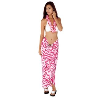 1 World Sarongs Women's Handmade Zebra-Stripe Sarong (Indonesia)