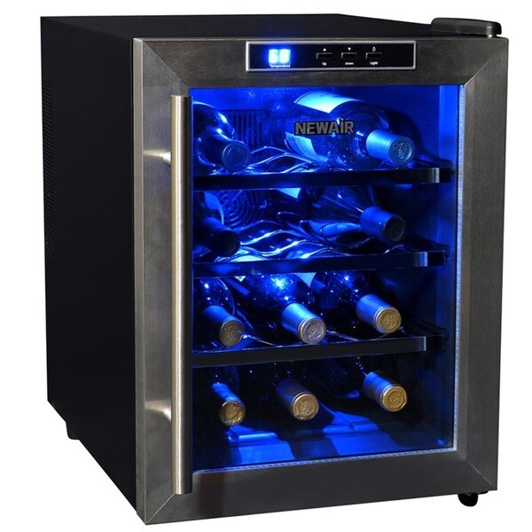 12 Bottle Wine Fridge Part - 19: Newair Appliances 12-bottle Wine Cooler - Free Shipping Today -  Overstock.com - 14866540