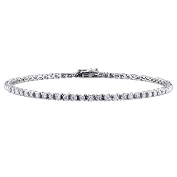 Miadora Signature Collection 14k White or Yellow Gold 2ct TDW Diamond Bracelet