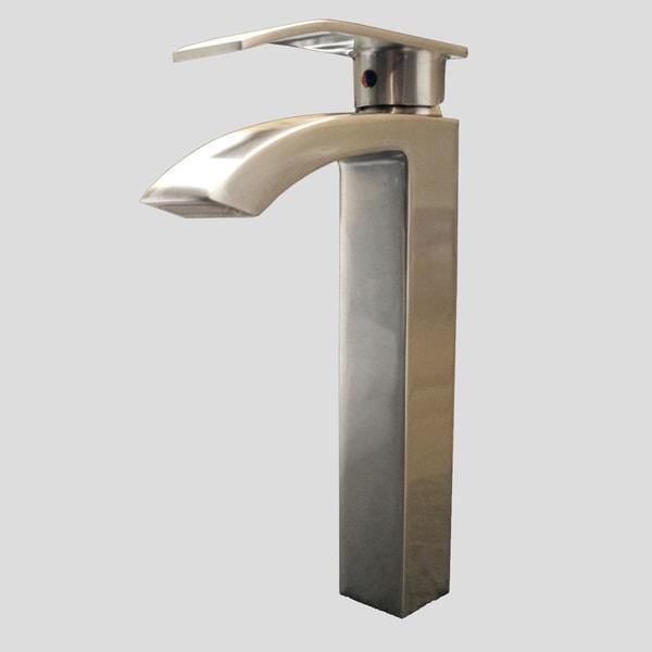 Kokols Single Lever Brushed Nickel Vessel Faucet