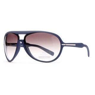 DASEIN by Anais Gvani Women's Stripe Aviator Sunglasses (Option: Brown - Slate Blue - Blue)