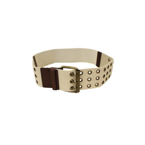 In Style Women's Rugged Ribbed Webbing Belt with Elastic Back