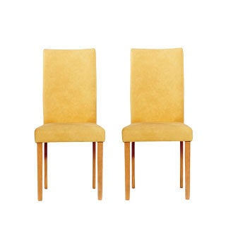 Warehouse of Tiffany Shino Mustard Faux Leather Chairs (Set of 8)